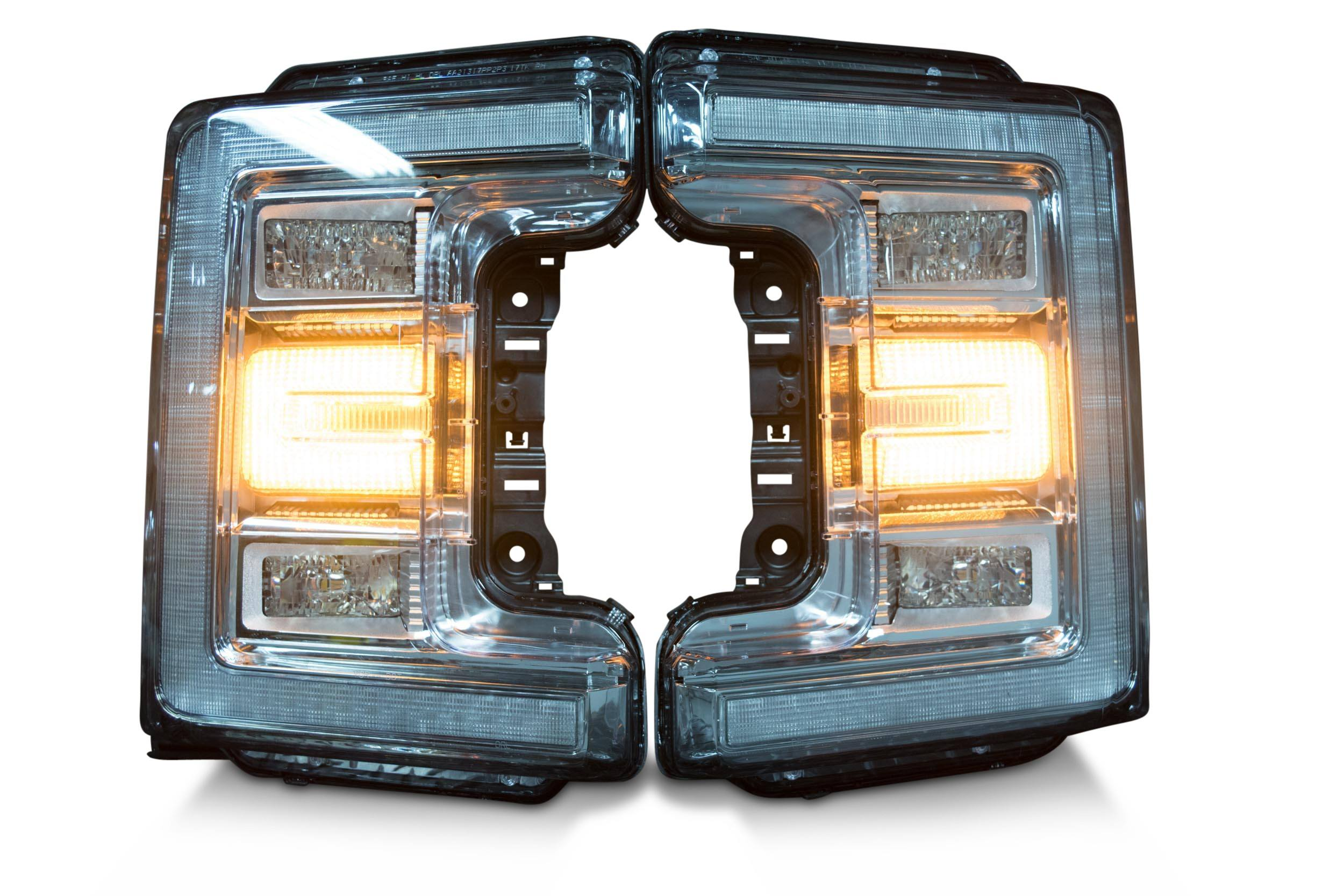 Pair 2017 Ford Super Duty Oem Led Headlights The Hid Factory