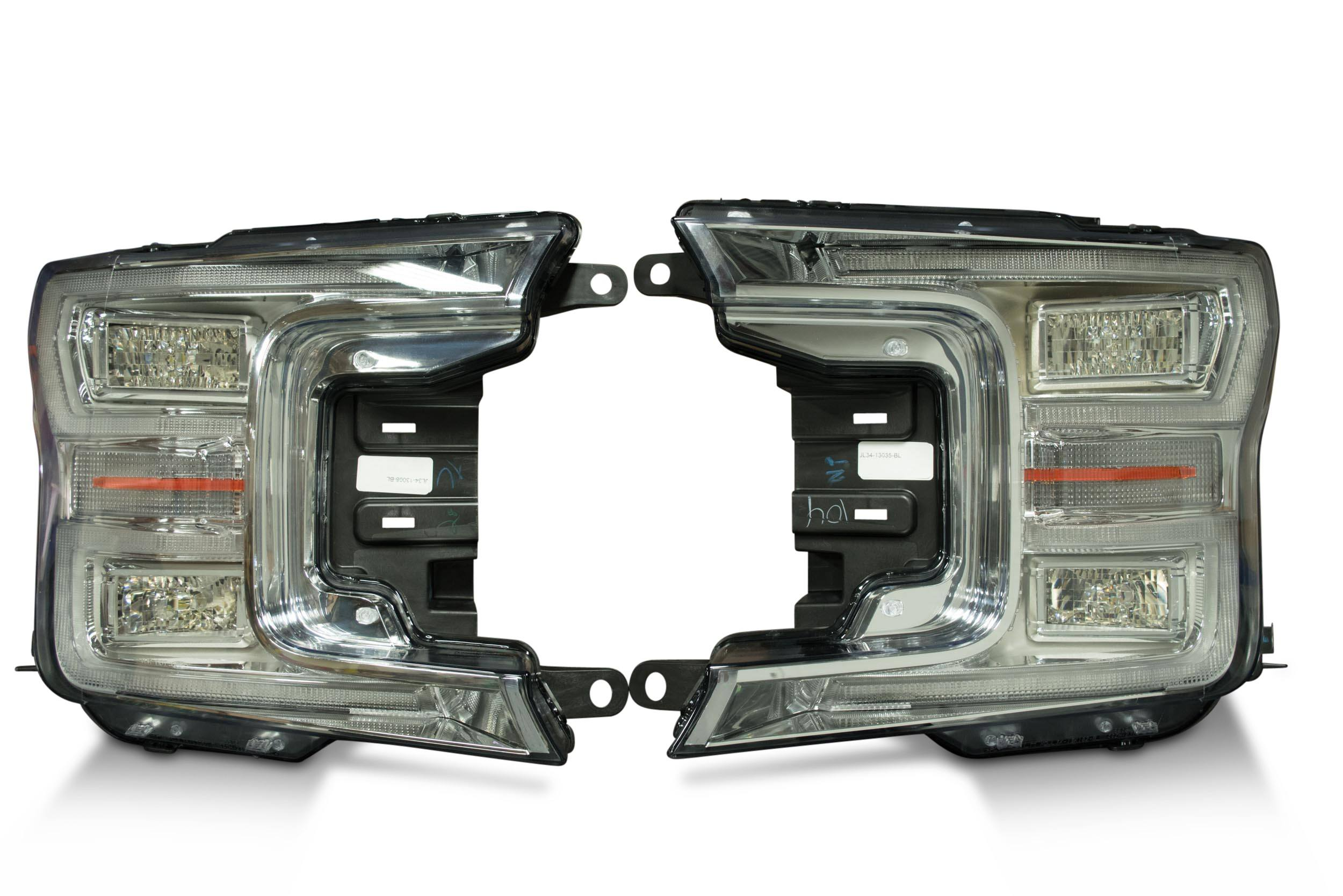Pair 2018 Ford F150 Oem Led Headlights The Hid Factory F 150 Fog Light Wiring Harness High Quality Brought To You By