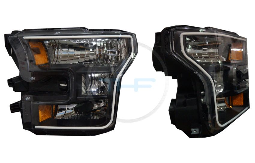 2015-2016 Ford F150 Headlights w/DRL LED Colorshift Switchback, the best HID Headlight kits.