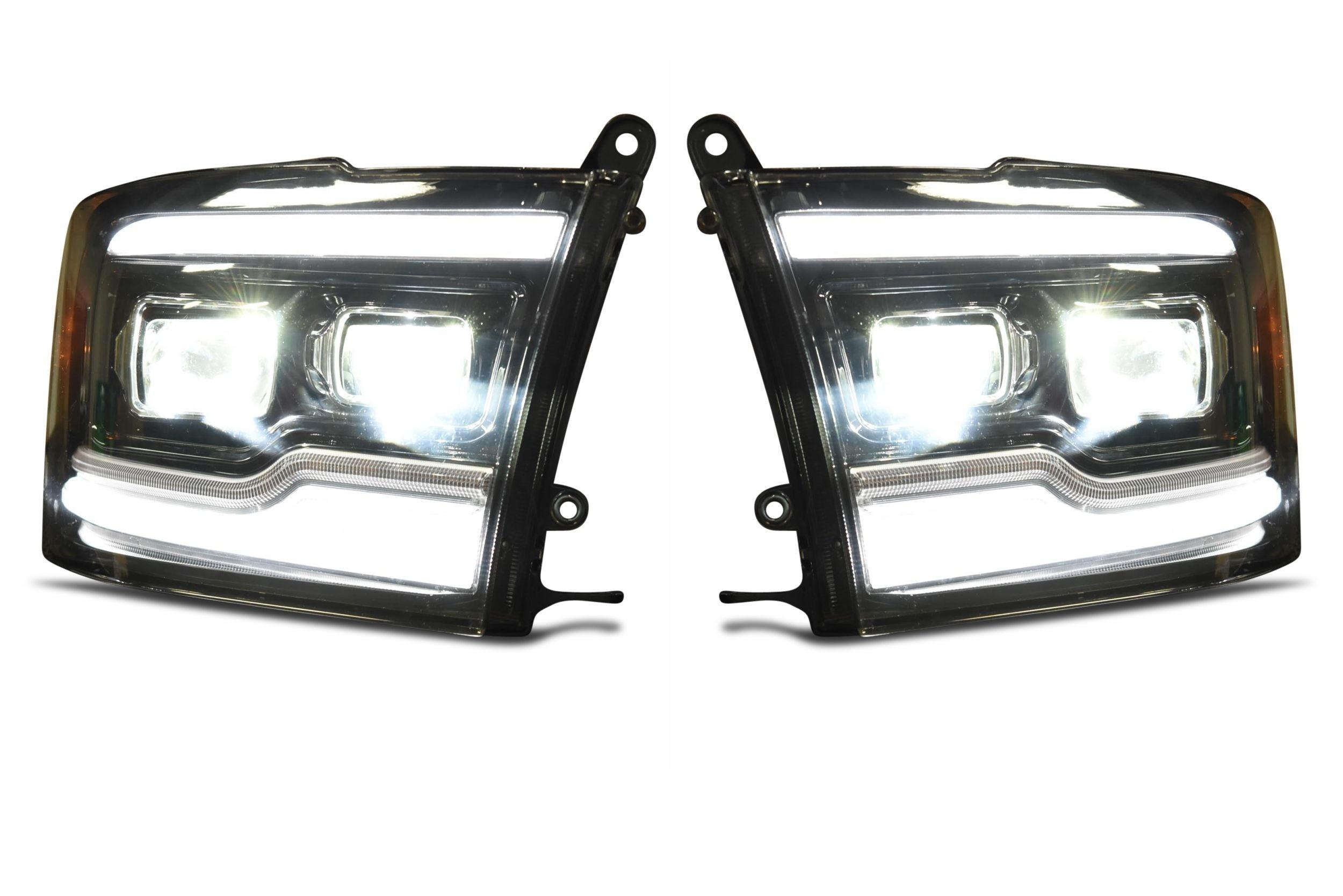 Pair Dodge Ram 2009 2018 Xb Led Headlights The Hid Factory Stock Headlight Wiring