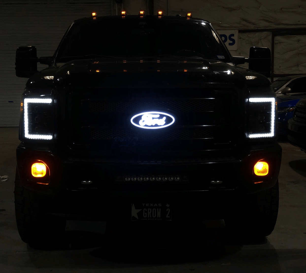 Thf Illuminated Led Emblem 11 16 Ford Super Duty F 250 F 350 The Hid Factory